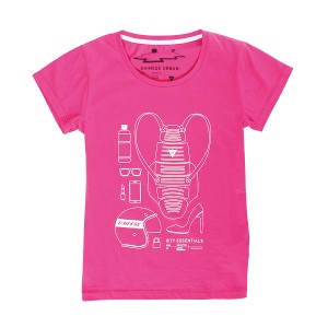 T-SHIRT DAINESE CITY PACK LADY FUXIA S