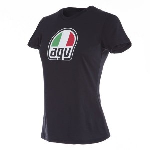 T-SHIRT AGV LADY BLACK XS S M L