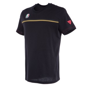 T-SHIRT DAINESE FAST 7 BLACK/GOLD S